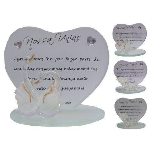 Placa de Vidro para Casamento