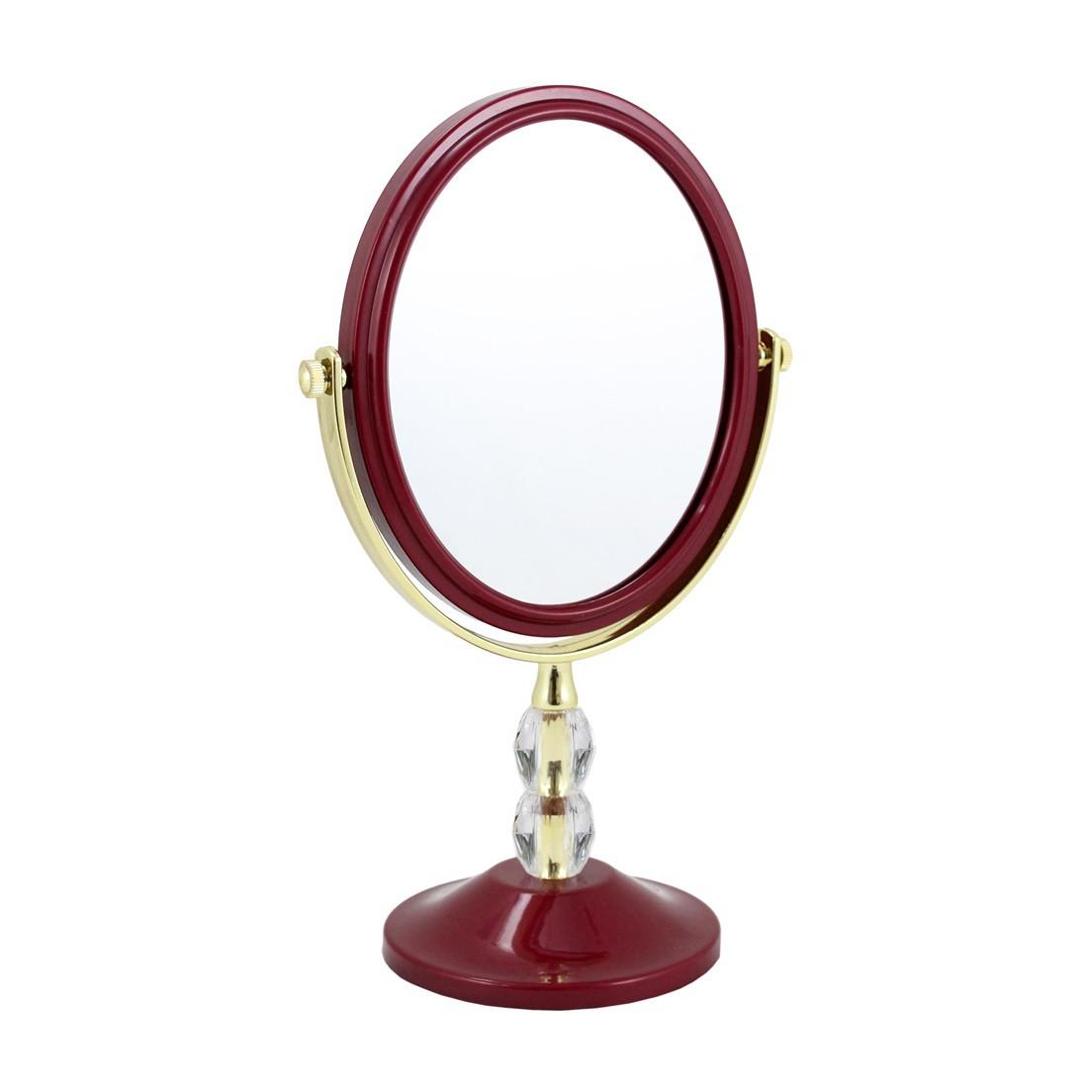 Espelho de Bancada Dupla Face com Detalhes de Cristais Jacki Design Espelho