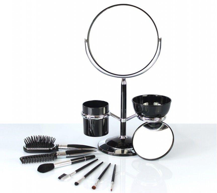 Espelho de Mesa com Pincéis e Escova Jacki Design