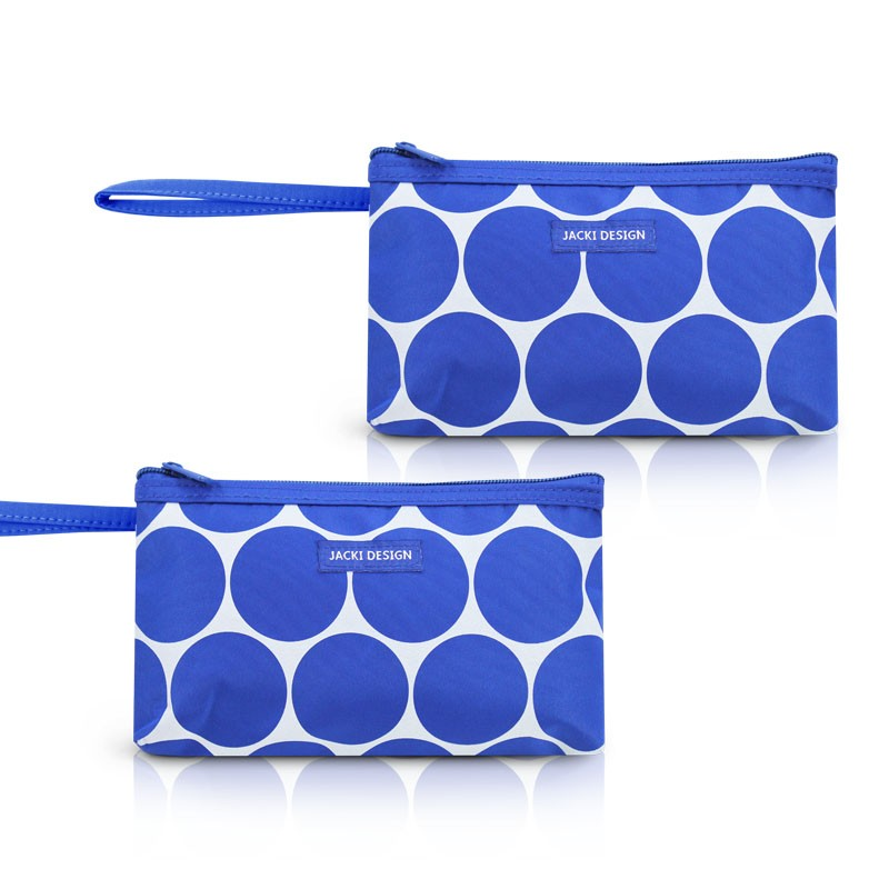 Kit de 2 Necessaire com Alça Tamanho Pequeno Dots Jacki Design