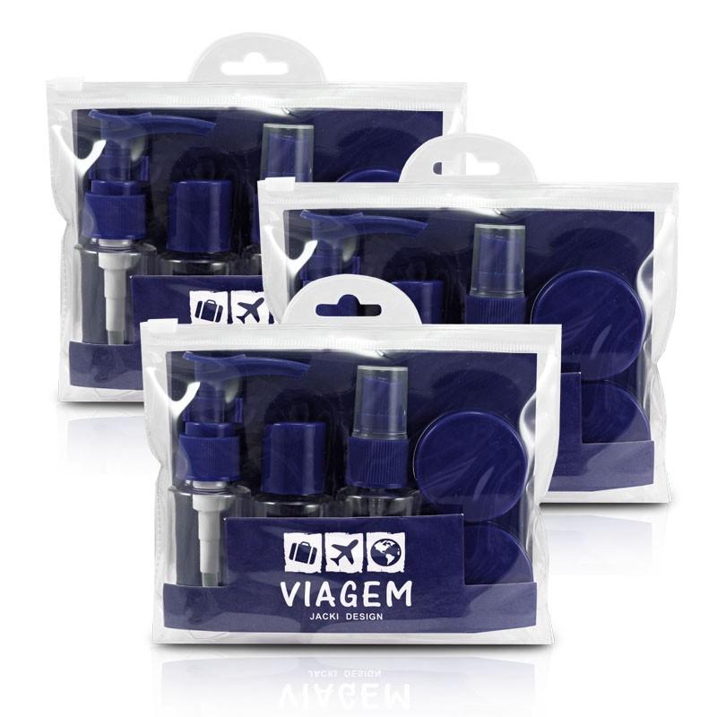 Kit de 3 Conjuntos de Frascos com 7 Peças Jacki Design