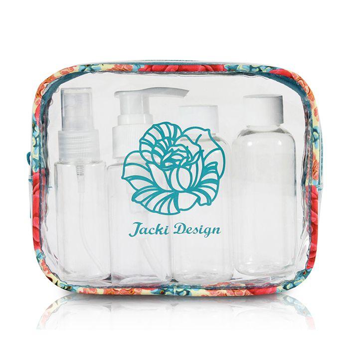 Kit de Frascos de 4 Peças com Necessaire Jacki Design Miss Chérie