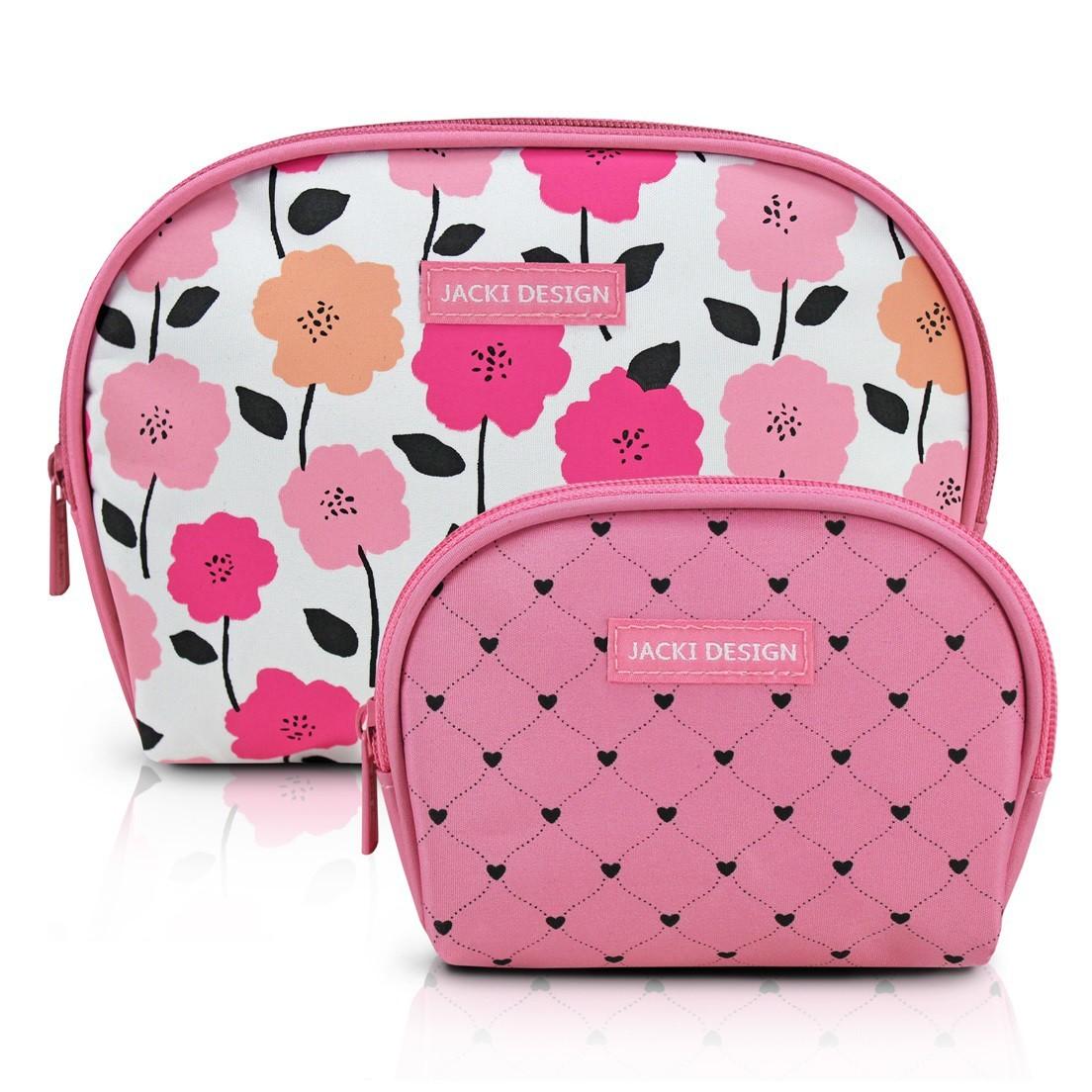 Kit de Necessaire de 2 Peças Pink Lover Jacki Design