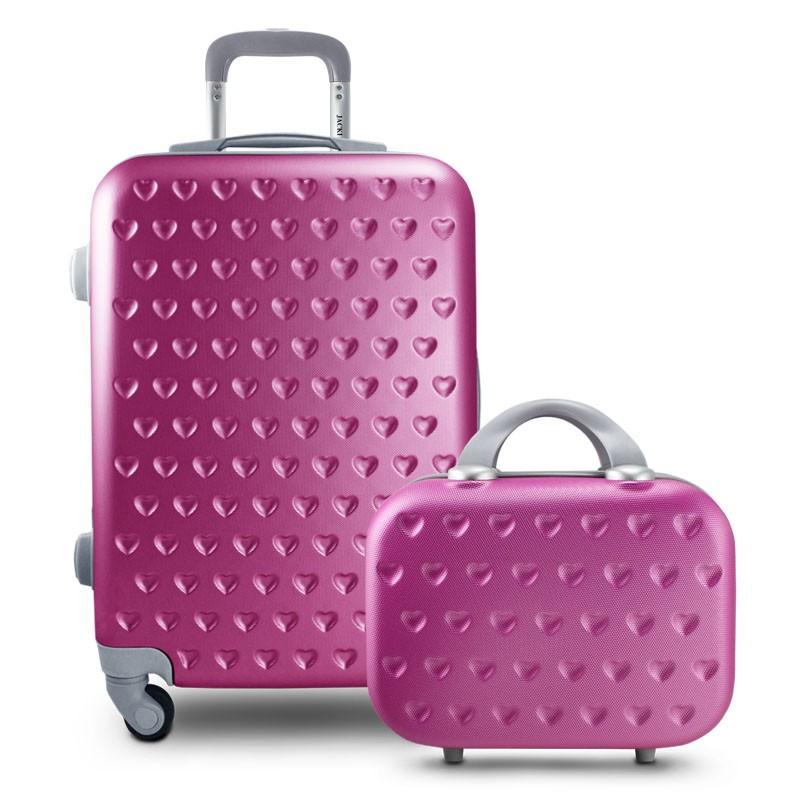 Kit Frasqueira e Mala de Bordo Love Pink