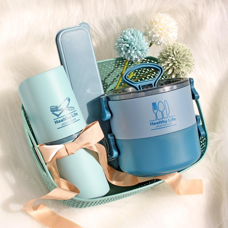 Conjunto Porta escova de dente, Porta talher e Marmita 2 Andares Concept Jacki Design