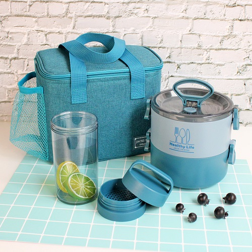 Conjunto Bolsa Termica 2 Andares , Garrafa 430ml e Bolsa Termica Concept Jacki Design