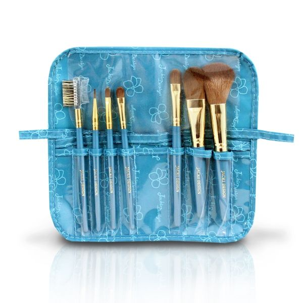 Kit Pincéis de Maquiagem 7 Peças com Estojo Jacki Design