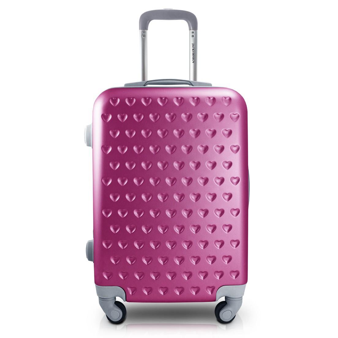 Mala de Bordo para Viagem Love Pink Jacki Design