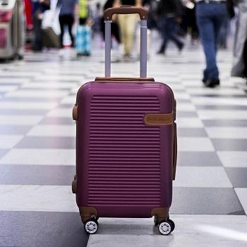 Mala de Bordo para Viagem Premium Vinho Jacki Design