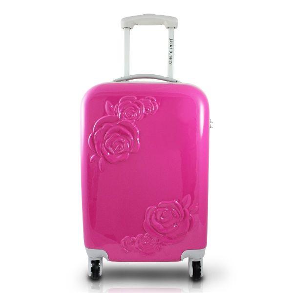 Mala de Viagem 360 Graus com Flor c/ Relevo Pink