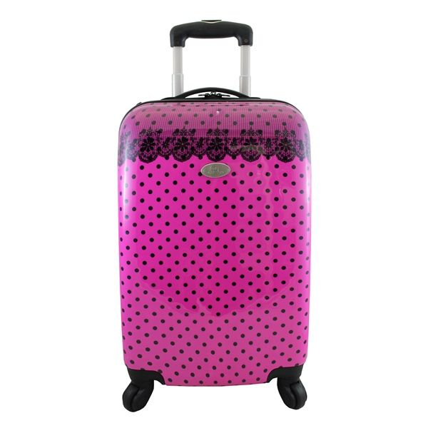 Mala de Viagem 360 Graus Poá Jacki Design Pink
