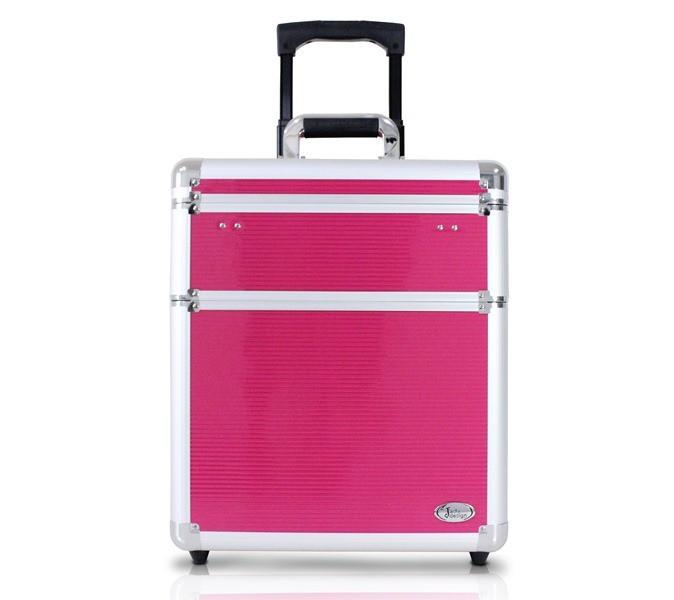 Maleta Profissional de Cabeleireiro com Rodinhas Pink Jacki Design