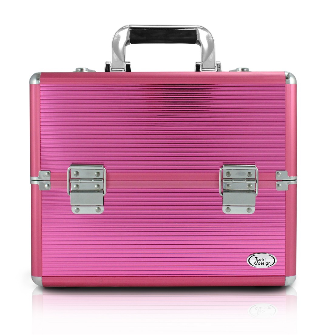 Maleta Profissional de Maquiagem Pink Tamanho Médio Jacki Design