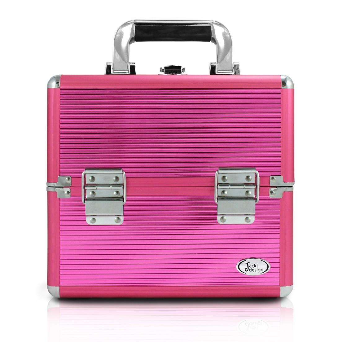 Maleta Profissional de Maquiagem Pink Tamanho Pequeno Jacki Design