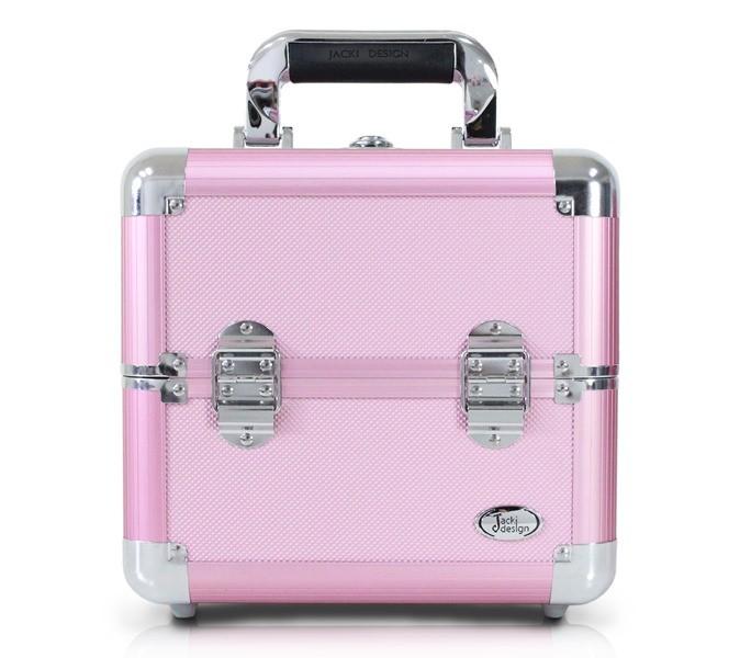 Maleta Profissional de Maquiagem Rosa Tamanho Pequeno Jacki Design