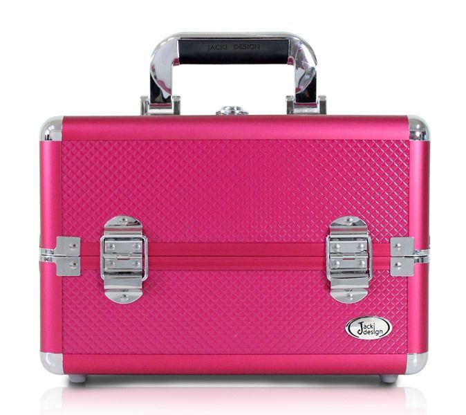 Maleta Profissional de Maquiagem Tamanho Pequeno Jacki Design Pink