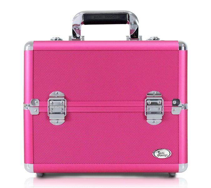 Maleta Profissional de Maquiagem Tamanho M Jacki Design Pink