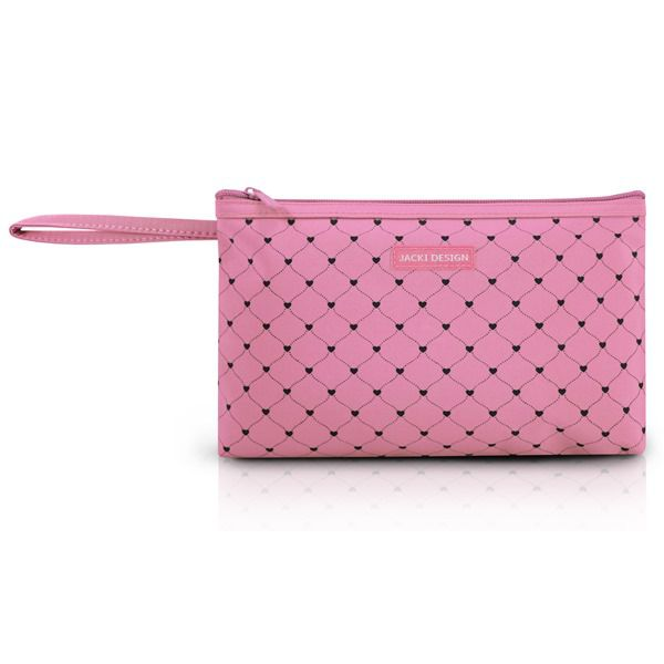 Necessaire com Alça Tamanho Grande Pink Lover Jacki Design