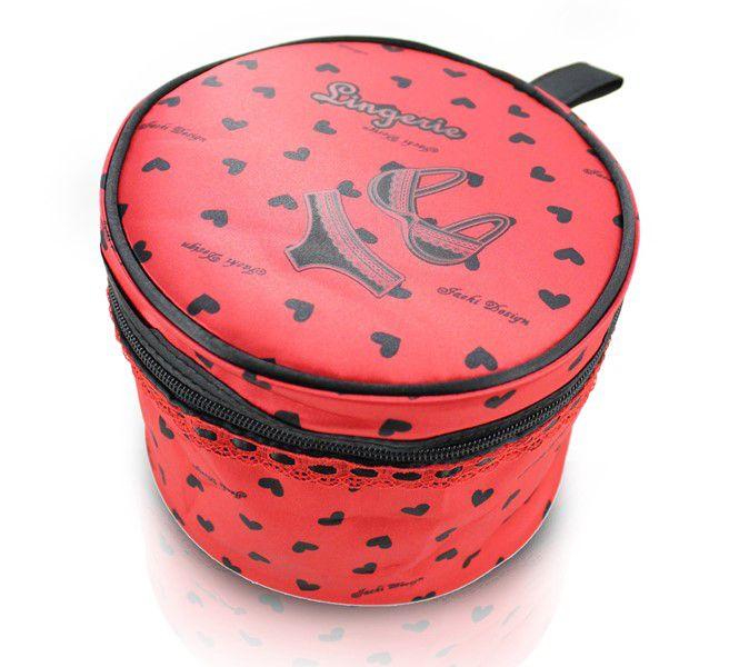 Necessaire para Lingerie Valentine Tecido Coração Jacki Design
