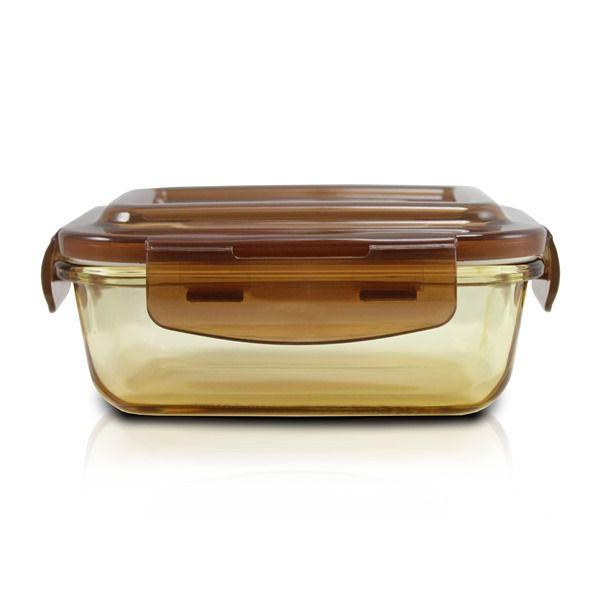 Pote de Vidro Hermético Marrom Tamanho Pequeno Jacki Design