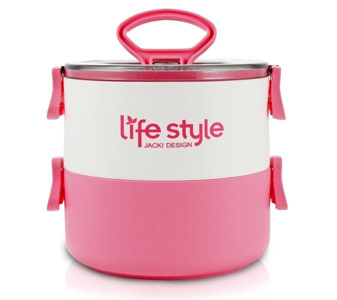 Pote Marmita Lifestyle de 2 Andares 1400 ml Jacki Design