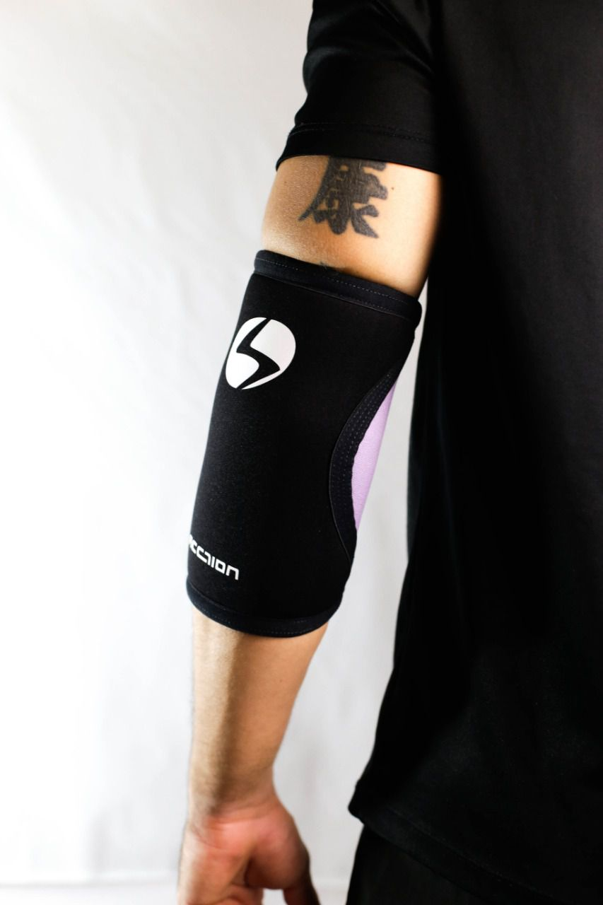 Cotoveleira 5mm - Acction Brasil - Crossfit - Lilac Black