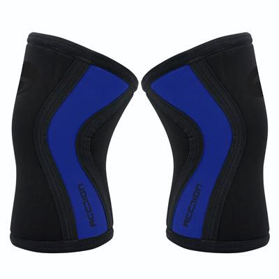 Joelheira 7mm - Acction Brasil - Crossfit - Black  Blue - Lt