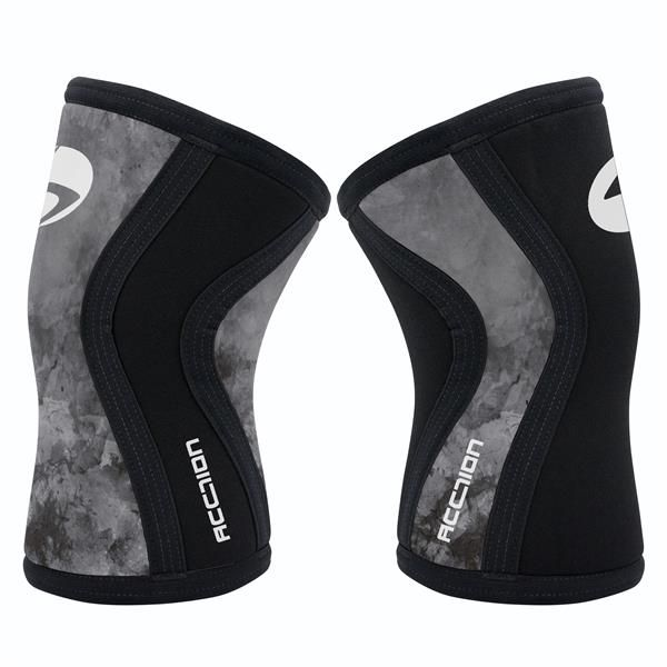 JOELHEIRA 7MM - ACCTION BRASIL - CROSSFIT - SMOKE BLACK