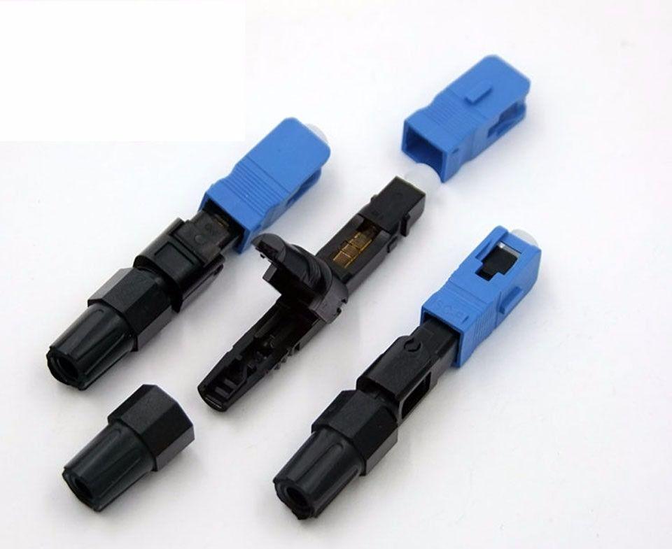 Conector Optico Fast Rosqueavel Reutilizavel Monomodo SC/UPC (Drop Flat) Simplex Conector Rapido