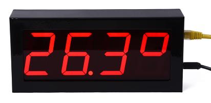 DSP-10-ETH Painel de temperatura, umidade Ethernet SNMP