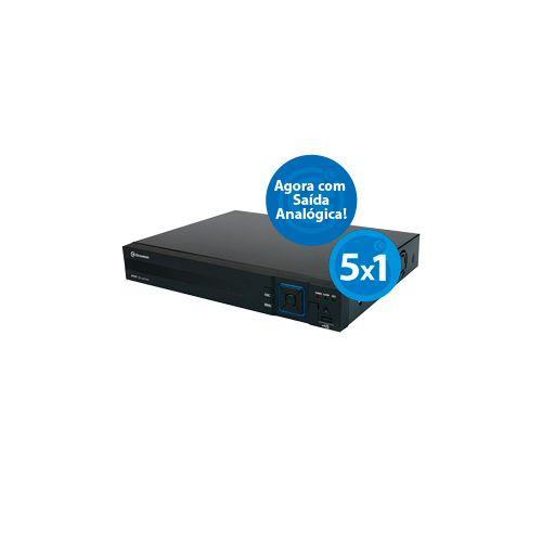 DVR HVR 5X1 DE 08 CANAIS P2P 1080N PRETO METAL - C/ SAIDA ANALOGICA GR