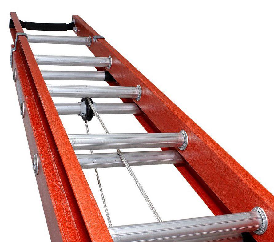 Escada Cogumelo Fibra de Vidro Extensivel Vazada Efv-23
