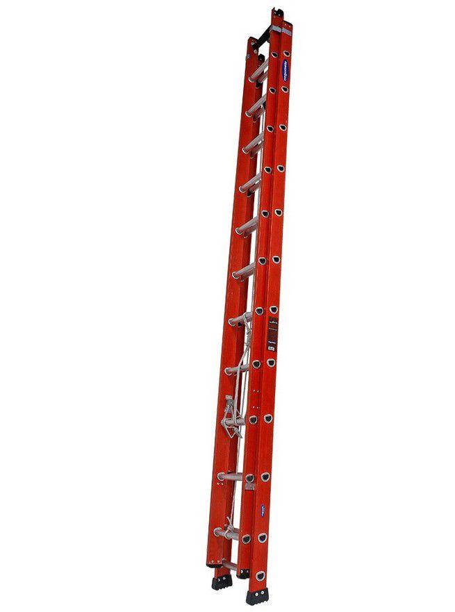 Escada Cogumelo Fibra de Vidro Extensivel Vazada Efv-27
