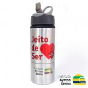 Cliente Instituto Ayrton Senna - Squeeze Sport Prata - Técnica Sublimação