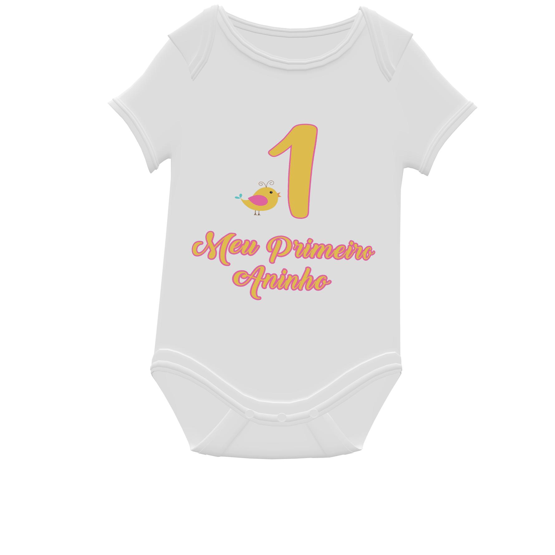 Body Personalizado para Aniversário de 1 ano
