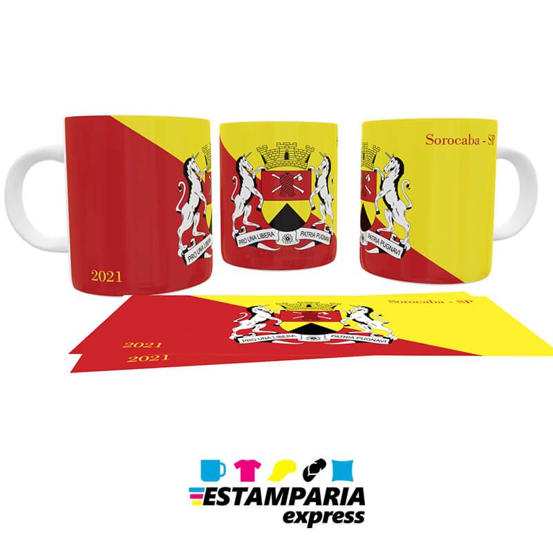 Caneca Personalizada - Bandeira de Sorocaba