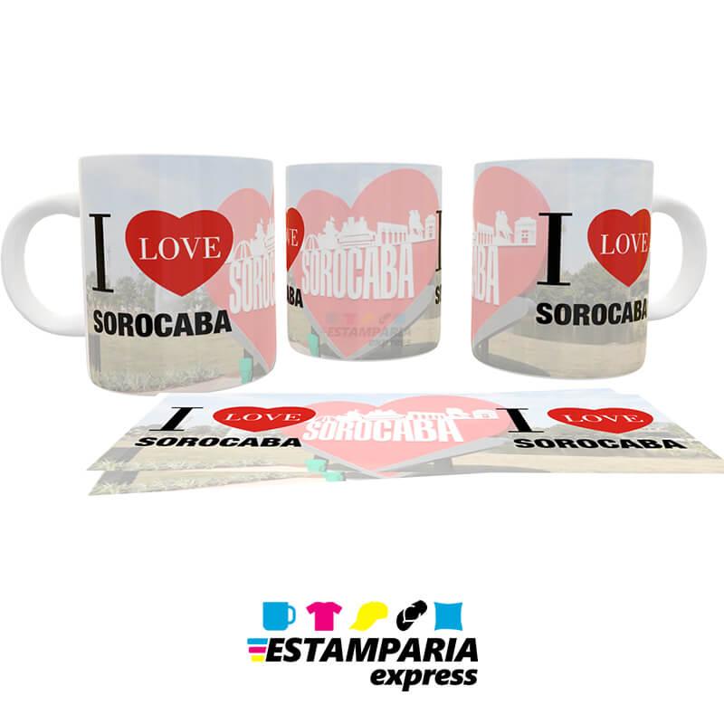 Caneca Personalizada - I Love Sorocaba - Coração