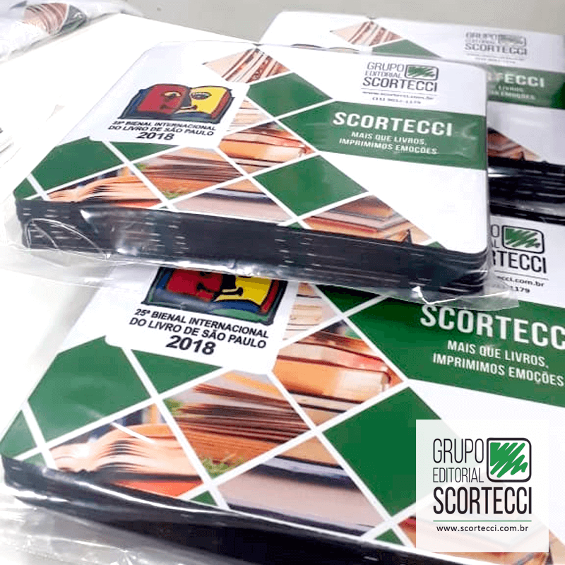 Cliente Scortecci Editorial - MousePad - Técnica Sublimação