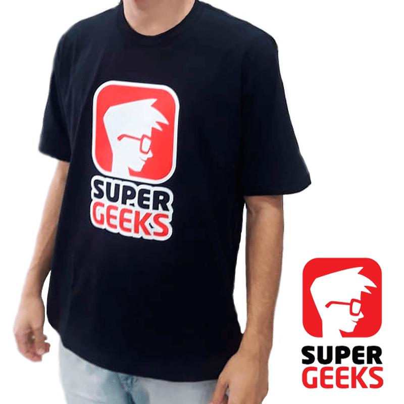 Cliente Super Geeks - Camiseta Preta - Técnica Transfer OBM