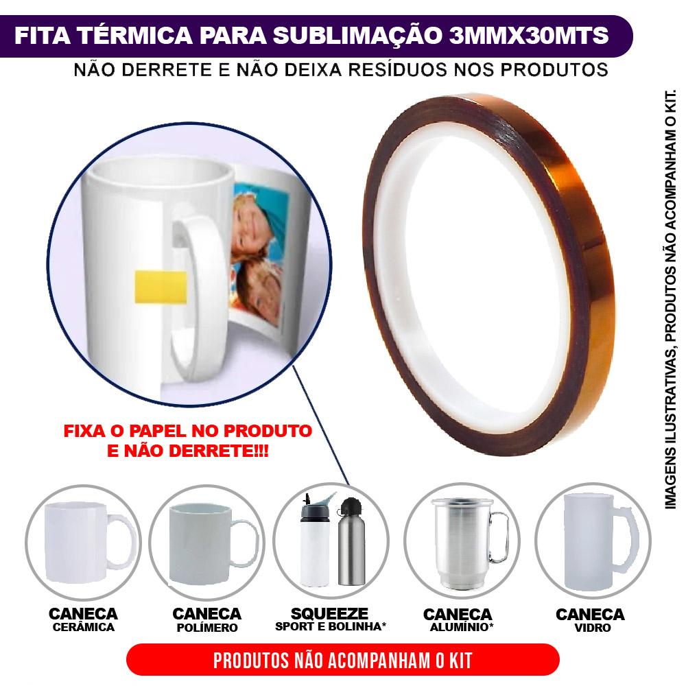 Prensa Térmica DEKO para Caneca com KIT Tinta Papel e Fita