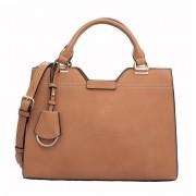 Bolsa LOUCOS & SANTOS Grande Com Bag Charm Natural