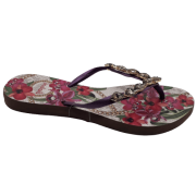 Chinelo INDAIÁ C/ Pedras Floral Roxa