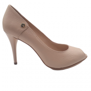 Sapato Peep Toe JORGE BISCHOFF Floter Bege