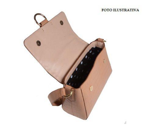 Bolsa Clutch LOUCOS & SANTOS Tiracolo Croco Capuccino