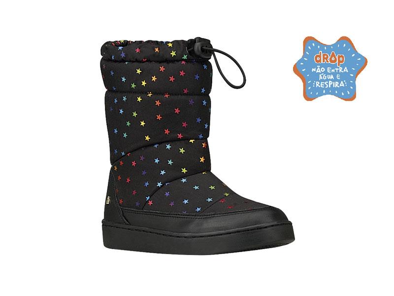 Bota Bibi Feminina Urban Boots Estrela/Preto