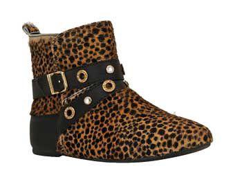 Bota Infantil BIBI Flat Boots Onça
