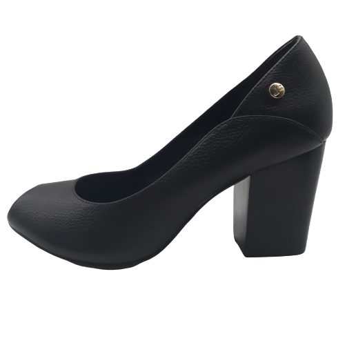 Sapato Peep Toe JORGE BISCHOFF Couro Floter Black