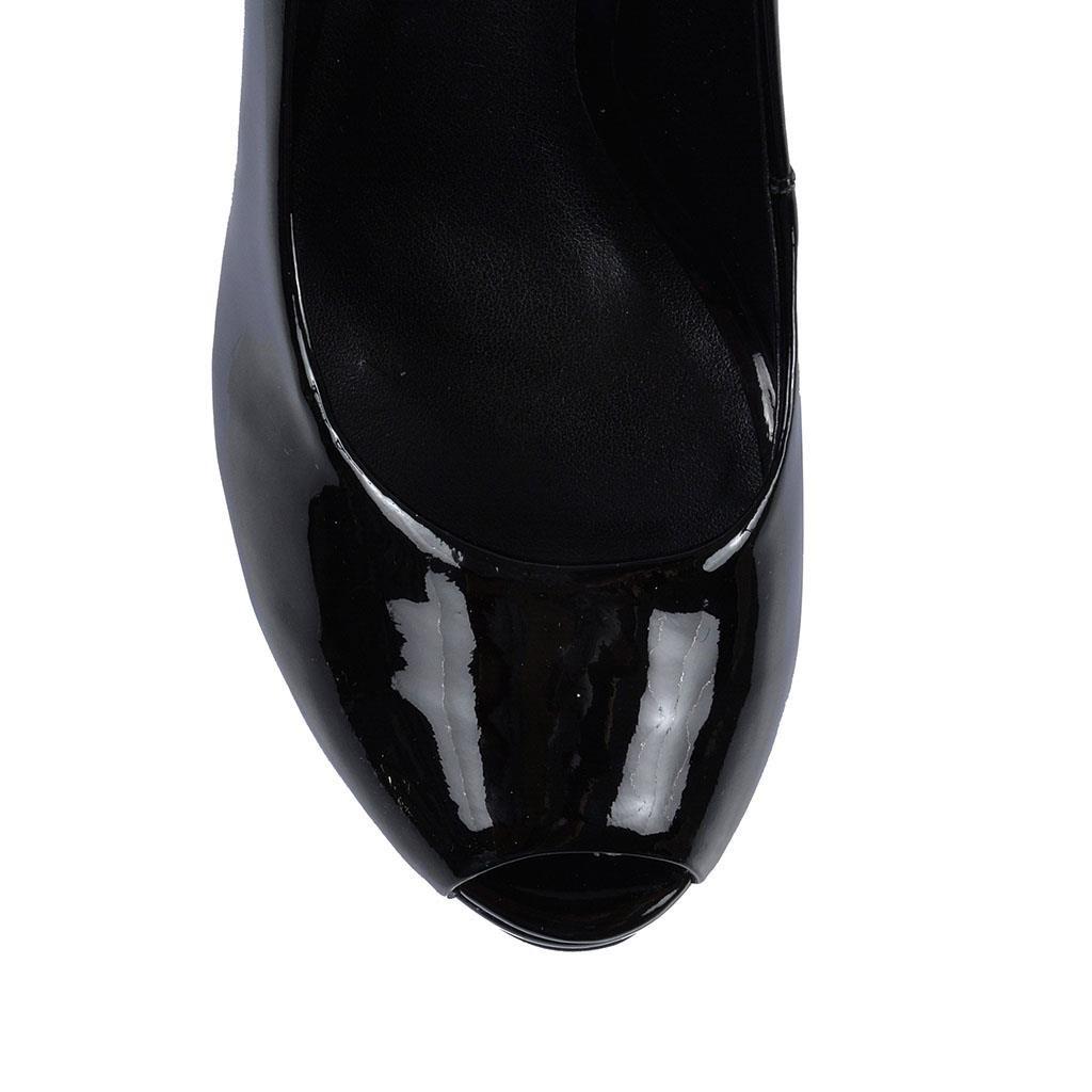Sapato Peep Toe Jorge Bischoff Meia Pata Vz Preto