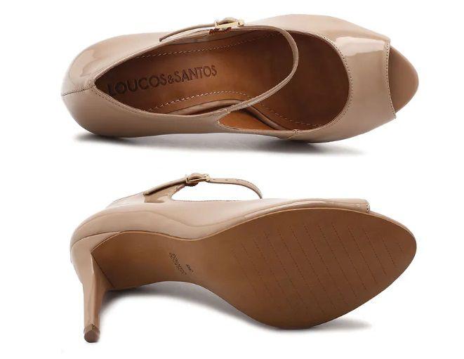 Sapato Peep Toe LOUCOS & SANTOS Vz Areia