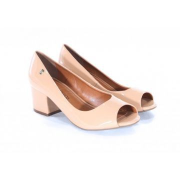 Sapato Peep Toe LOUCOS & SANTOS Verniz Natural
